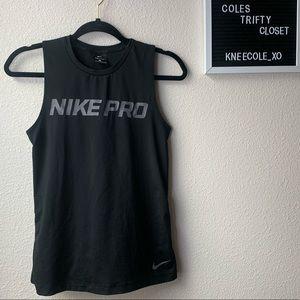 Nike Pro Wrap Mesh Back Top athletic sports shirt